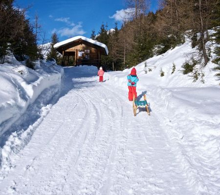 Rodeln Tillachweg Außervillgrtaen Osttirol | © TVB Osttirol / Weitlaner Jakob