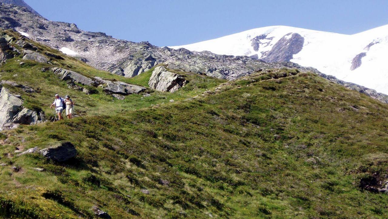 Gletscherlehrweg Innergschlöss, Matrei in Osttirol. Der Lehrpfad ist als Rundweg angelegt