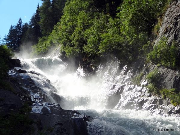 Wasserschaupfad Umbalfälle  am Talabschluss des Virgental