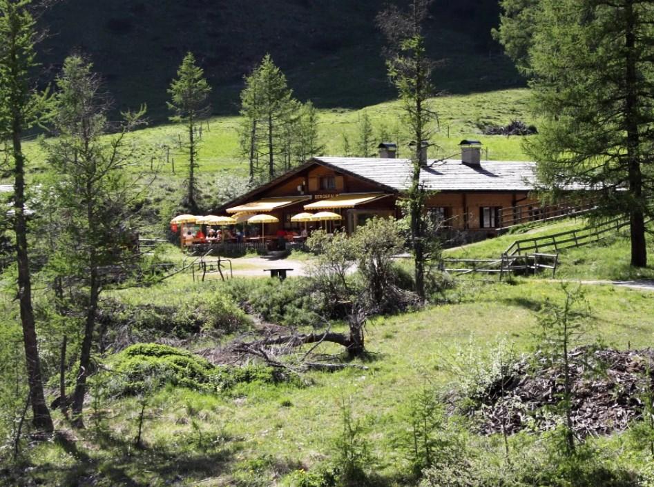 Bergeralm, 1.637 m. Bewirtschaftete Alm · Granatspitz-